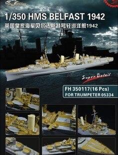 Modèle d'assemblage Yingxiang 1/350 Belfast cruiser modification avec petits jouets à main