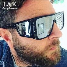 Windproof Sunglasses Women Men Reflective Oversized Mirror Retro Vintage Sun Glasses Big Eyewear