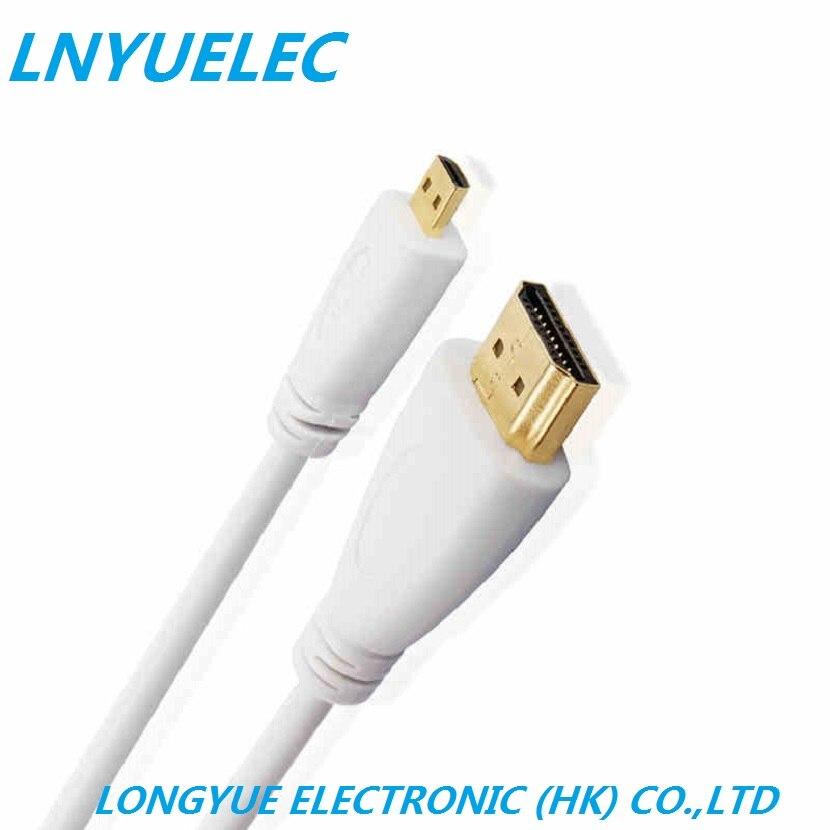 300 PCS/LOT 3 PIEDS 1 m MIni HDMI vers HDMI câble avec Ethernet Or Plaqué pour téléphones Cellulaires 1 M pour win8 4 k x 2 k 3D, 1080 P