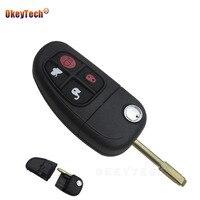 OkeyTech Remote Key Fob 4Button 434mhz For Jaguar X Type S Type XJ XK Type Flip