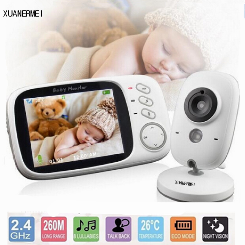 Baby camera Monitor3.2 inch LCD Wireless Video Night Vision Nanny Security Camera Temperature Monitoring VOX Babysitter Monitor kids boys jeans trousers 100% cotton 2017 spring autumn washed high elastic children s fashion denim pants street style trouser page 3