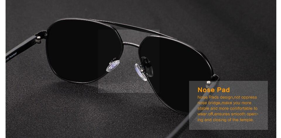 POLARKING Brand Fashion pilot Polarized Men Sunglasses Men's Metal Night Vision Driving Sun Glasses Travel Eyewear Oculos de sol