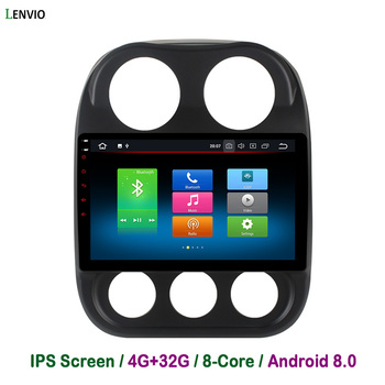 Lenvio 4G RAM 32G ROM Octa Core Android 8.0 CAR DVD Player For Jeep Compass 2010 2011 2012 2013-2016 Radio GPS Navigation BT IPS
