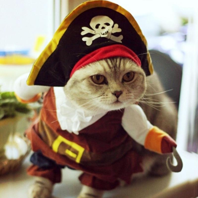 Grappige kat kostuum piraat pak kat kleding Corsair Halloween kostuum - Producten voor huisdieren - Foto 5