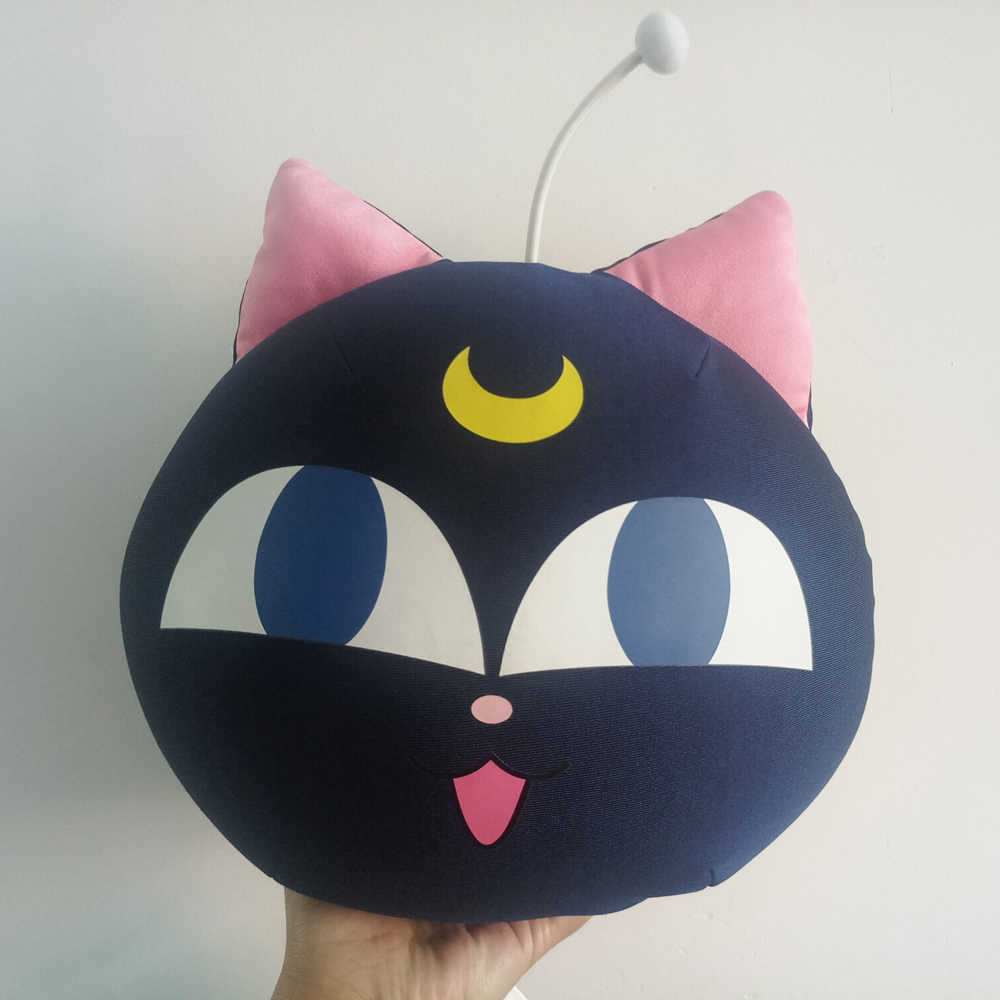 Authentic Anime Sailor Moon 20th Anniversary Luna Cat Stuffed Plush Doll  pillow with tags 0c327f7b6529