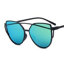 ANEWISH 2017 Venta Caliente Espejo Plano Lente Del Ojo de Gato mujeres gafas de Sol Clásico Diseñador de la Marca Mujer de las gafas de sol