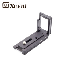 Xiletu LB-A6300 Ball Head Monopod L Fast Launch Plate Mounting Adapter Bracket For Sony a6300 a6500 Arca RRS Manfrotto Tripod