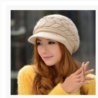 Free Shipping Ms Female Han Edition Rabbit Hair Bright Autumn Winter Hat In Winter To Keep