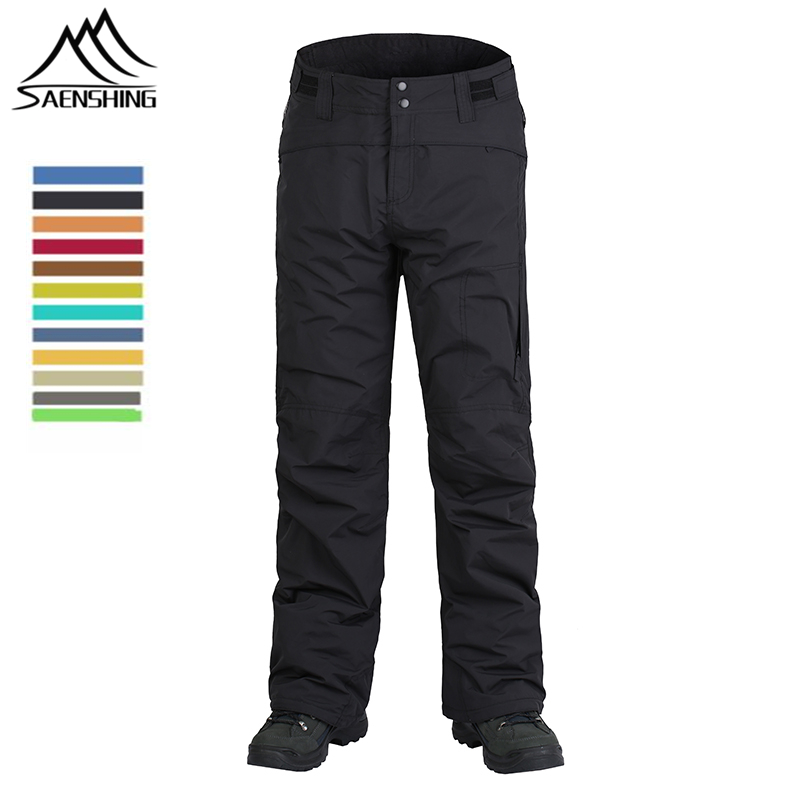 New Brand Women Men Winter Snowboard Pants Outdoor Snow Thermal Pants Thicken Warmth Ski Trousers Waterproof Windproof Clothing caranfier winter men jeans classic gray blue trousers brand clothing 2017 new fashion casual trousers male quality pants 36 38
