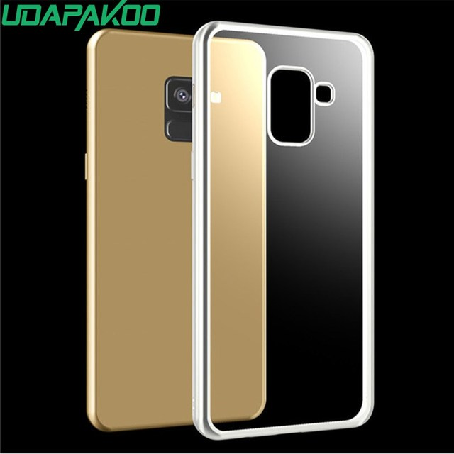 Udapakoo Plating Crystal Clear Case For Galaxy A6 A8 Plus 2018 A3 A5