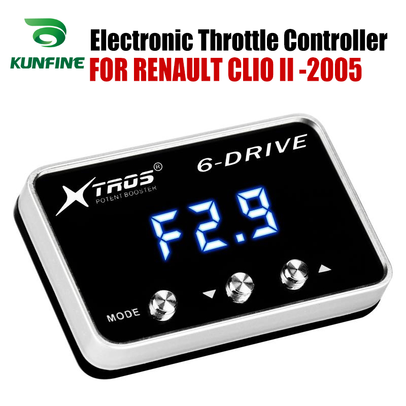 Car Electronic Throttle Controller Racing Accelerator Potent Booster For RENAULT CLIO II 2005 forwards Tuning Parts Accessory