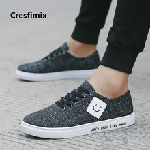 Cresfimix zapatos hombre men fashion comfortable lace up shoes man's cool street black shoes male plus size canvas shoes c2102