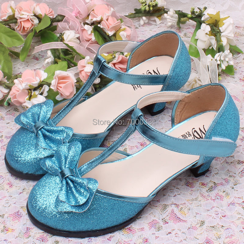 autumn baby blue glitter dress shoes for