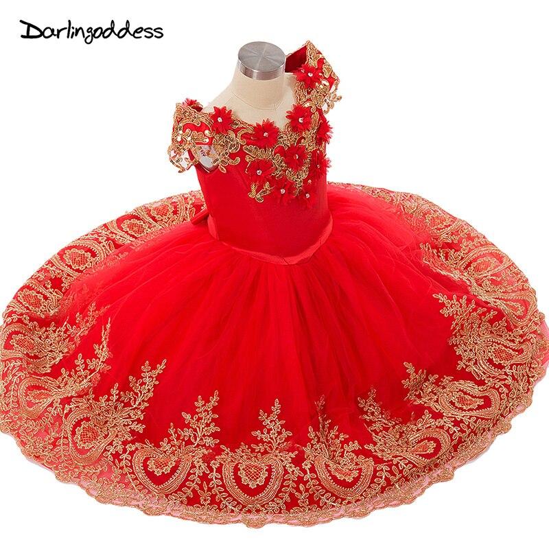 2a02d38c7 Princesa flor niñas vestidos para fiesta de boda 2019 longitud del piso con  encaje dorado niños ...