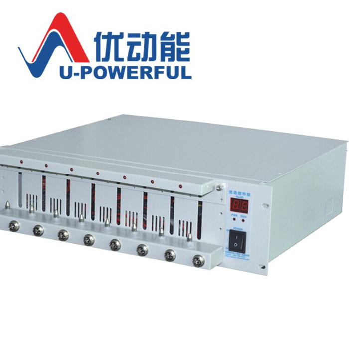 8 channel battery capacity tester, 18650 polymer lithium battery tester, aging charging and discharging cabinet battery capacity tester resistance testing mobile power lithium lead acid battery can be 18650 serial line 20w