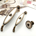 New 96mm Bronze Zinc Alloy Rose Kitchen Cabinet Handle Antique Cabinet Drawer Handle&Knob Eur-Style Furniture Hardware Bar Pulls