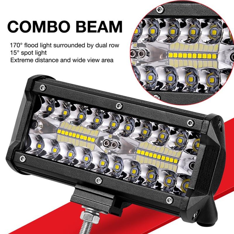 LED Bar 7 inch LED Light Bar Work Light for Driving Offroad Boat Car Tractor Truck 4x4 SUV ATV 12V 24V Off Road
