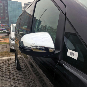 Car Side Rearview Mirror Decorative Cover Trim For Mercedes-Benz Vito W447 2014 2015 2016 2017 2018 Car Accessories Styling