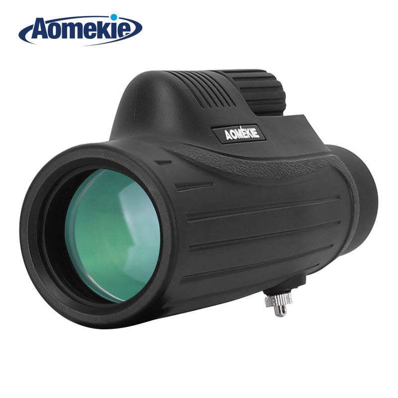 AOMEKIE 10X42 Monocular BAK4 FMC Optical Glass Lens High Power Hunting Camping Telescope Compact Spotting Scope