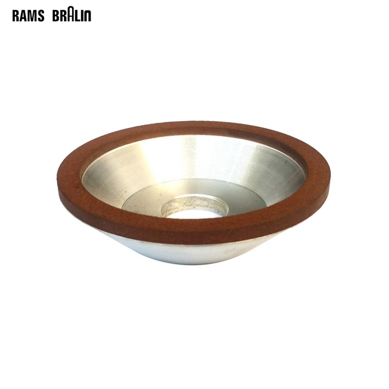 1 Piece Dia. 100mm /125mm /150mm Cup-Shaped Resin Diamond Abrasive Grinding Wheel Knife Sharpening