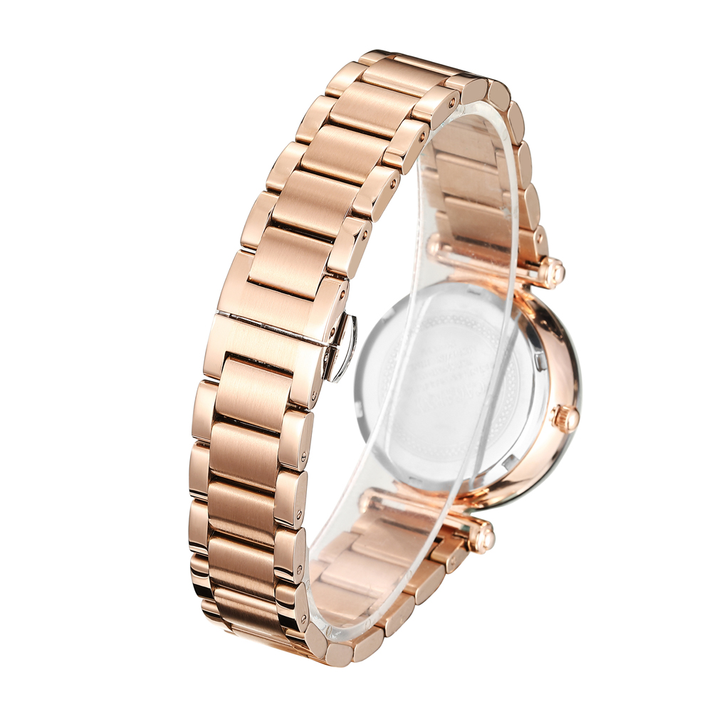 2018 2019 top luxury brand watch for women ladies vogue wristwatches quartz watch rose gold steel band free shipping (5)