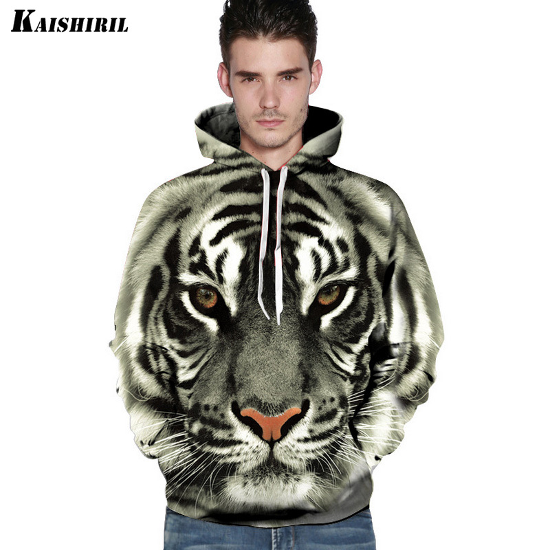 2018 3D Hoodies Men Tiger Lion Leopard Sweatshirt Casual Harajuku Couple's Pullover Women Men's Hip Hop Animal Hoodie