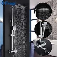 Frap grifos de ducha de Grifo de ducha de baño contemporáneo, conjunto de cabezal de ducha de lluvia, mezclador Torneira