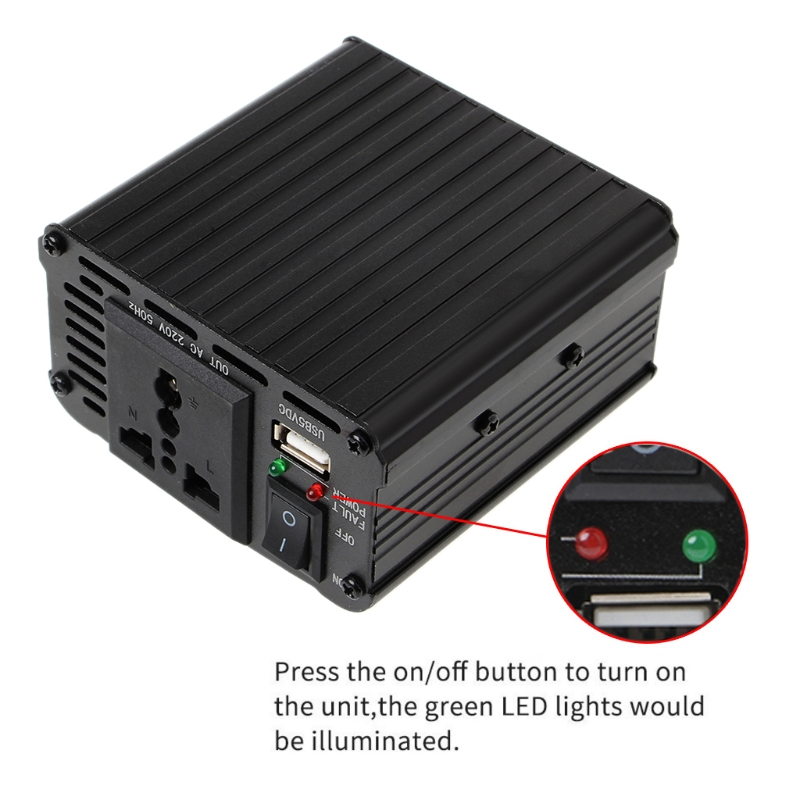 Image 5 - 300W/400W/500W/600W Power Inverter Converter DC 12V to 220V AC Cars Inverter with Car Adapter-in Car Inverters from Automobiles & Motorcycles
