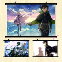 (40*60cm)NEW Seraph of the End Wall Scroll Painting Anime paintings Wall Stickers