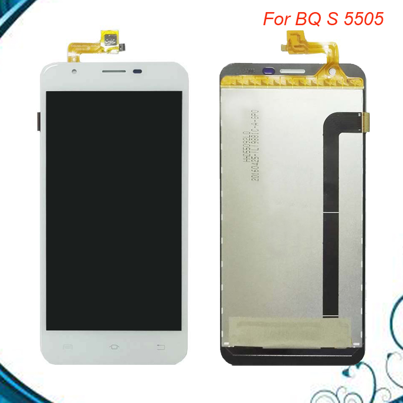 100% Tested OK For BQ BQS 5505 BQS5505 S 5505 LCD Display + Touch Screen Digitizer Assembly IN Stock