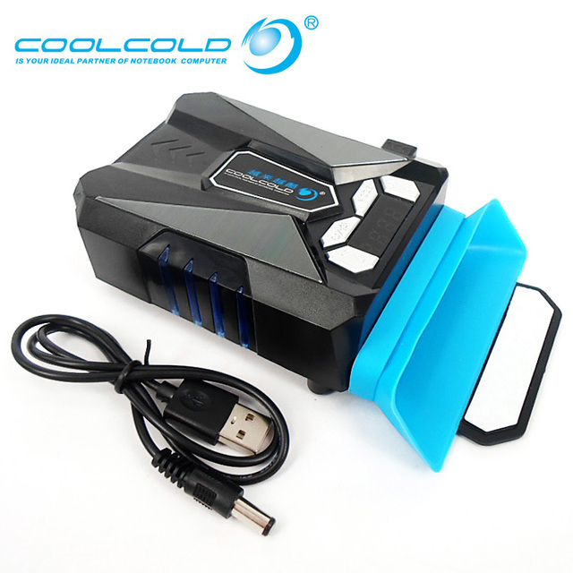 Лед Тролль 5 Интеллектуальный Контроль Температуры Вентилятор Охлаждения С ЖК-Дисплеем USB Радиатора Кулер Для Ноутбука для 14 ''15'' 17 ''Ноутбук