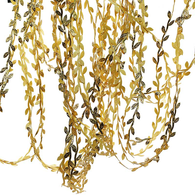 Craft fake artificial leaves leaf Gold wired Nylon//Silk embellishment wedding