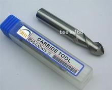 New 5pcs AL- 2flute Solid R6 ball nose end mill cutter 12x12x 25 x75L CNC Milling