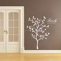 شحن مجاني حجم كبير الأسرة جداريات فروع شجرة الفينيل ملصقات الحائط ديكور المنزل الحديث مختلف الألوان المتاحة
