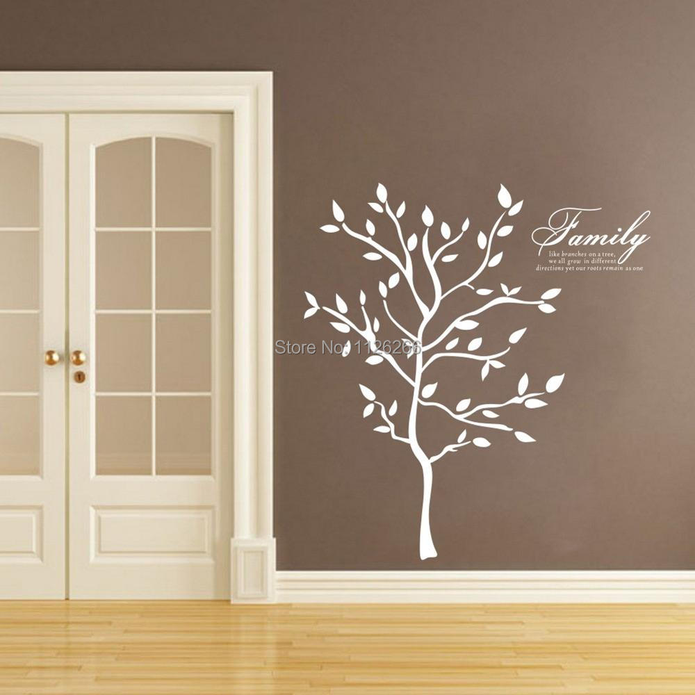 Free Shipping Large Size Family Tree Wall Murals Branches Vinyl Wall  Stickers Modern Home Decor Various