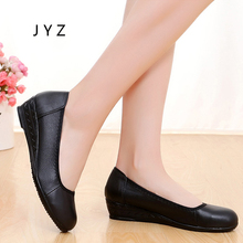 2018 New Fashion Womens Flats Leather Soft Shoes Summer Casual Shoe Slip On Lady aa0758