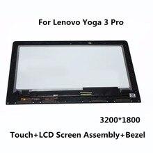 """13.3 """"lcd dokunmatik ekran digitizer meclisi + çerçeve panel ltn133yl03-l01 ltn133yl01 için lenovo yoga 3 pro 1370 80he00f5us 3200*1800"""