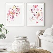 Скандинавская Современная Настенная живопись абстрактная Цветочная