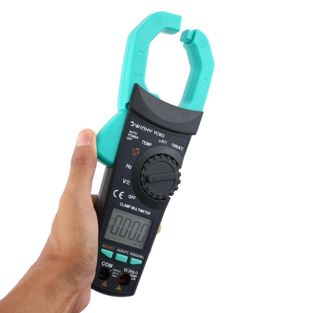Digital Clamp Meter VC902 DC/AC Volt Amp Ohm Diode Mini Multimeter Ammeter Multitester Current Voltage Resistance Tester Probe