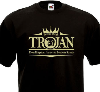 ad0646ae60 Camiseta de Troya Rocksteady Ska Reggae Jamaica Studio One Rude Boy piel  60's camiseta