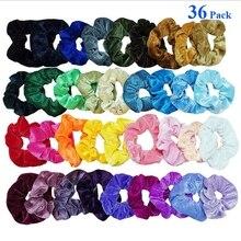 women headband Brief style 46 PC Women or Girls Hair Ties Scrunchie Scrunchies Accessories Velvet