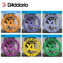D'Addario EXL110 EXL115 EXL120 EXL125 EXL130 XL никель круглая рана электрогитара струны Daddario гитарные струны