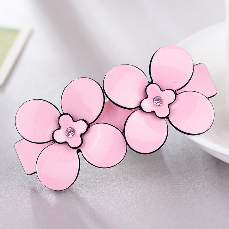Sweet French hair barrettes flower Acrylic hairpins cellulose acetate hair clip hair accessaries perfect gift for women
