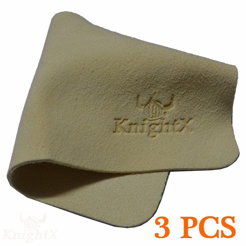 KnightX 3pcs Deer skin Cleaner Clean cloth Glasses camera lens filter UV CPL Star resin lenses glass accessories wipes optic lcd