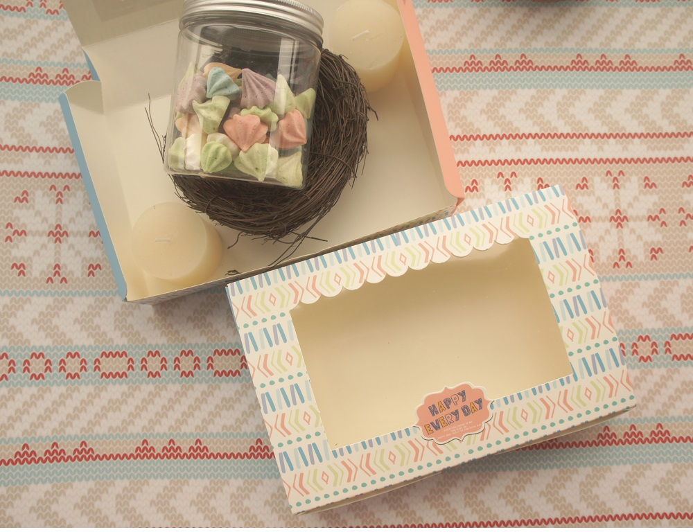 30pcs 21 6 14 5 5cm happy always together design Paper Box cookie Macaron Chocolate wedding Birthday Party Gifts Packaging in Gift Bags Wrapping Supplies from Home Garden