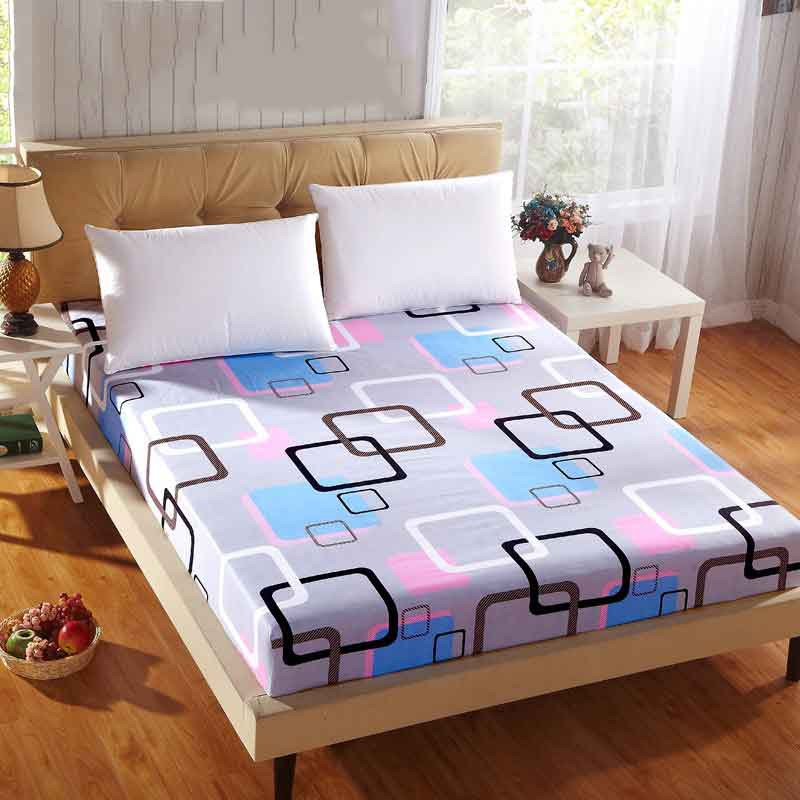 Geometric Mattress Cover Simple Cotton Protector Bed Bug Proof Dust Mite Mattress Pad Cover For Mattress Bedspread 150