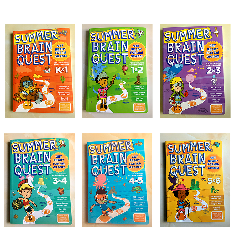 Summer Brain Quest English Version Of The Intellectual Development Card Books Questions And Answers Card Smart Start Child Kids