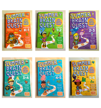 Summer Brain Quest English version of the intellectual development card books questions and answers smart start Child kids