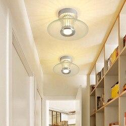 Nowoczesny prosty przejściach i korytarzach korytarz ganek balkon okrągła lampa sufitowa Hall lampa domowa ze stopu aluminium z G9 na poddaszu pralni jadalnia w Żyrandole od Lampy i oświetlenie na