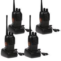 4 PCS Baofeng BF 888S Walkie Talkie 5W Handheld Pofung Bf 888s UHF 5W 400 470MHz